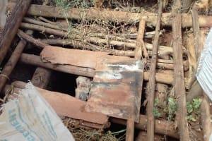 The Water Project: Visiru Community, Kitinga Spring -  Inside A Latrine