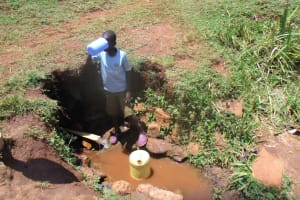 The Water Project: Mahanga Community -  Fetching Water