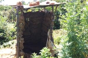 The Water Project: Murumba Community, Muyokani Spring -  Latrine
