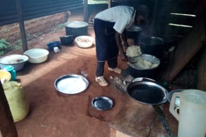 The Water Project: Friends Secondary School Shamakhokho -  Cook Serves Meal