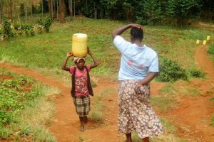 The Water Project: Mutambi Community, Kivumbi Spring -  Balancing Water
