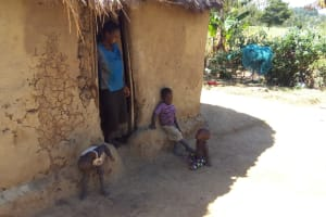 The Water Project: Shitaho Community, Mwikholo Spring -  Lady With Her Children