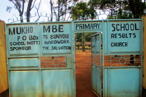 The Water Project: Mukhombe Primary School -  School Gate