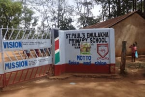 The Water Project: Emulakha Primary School -  School Entrance