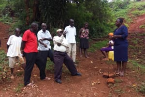 The Water Project: Shitaho Community, Mwikholo Spring -  Community Member Talking About Health