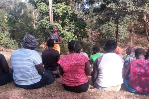 The Water Project: Shitaho Community, Andrea Kong'o Spring -  Training