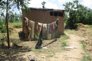 The Water Project: Mulundu Community, Fanice Mwango Spring -  A Sample Household_
