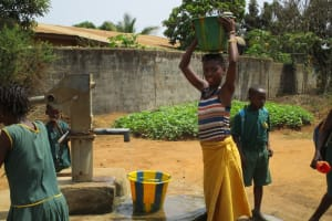 The Water Project: Benke Community, Turay Street -  Seasonal Well When It Is Functioning