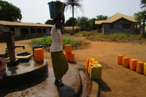 The Water Project: Benke Community, Brima Lane -  Seasonal Well When Working