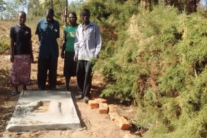 The Water Project: Mwinaya Community, Severe Spring -  Sanitation Platform