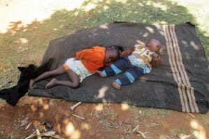 The Water Project: Shikhuyu Community -  Children Put Down For A Nap