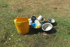 The Water Project: Tsivaka Community, Wefwafwa Spring -  Utensils On The Ground