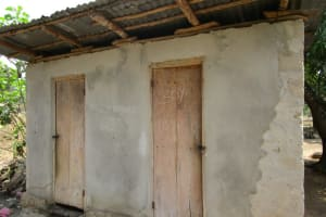 The Water Project: Royema Community A -  Latrine