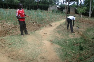 The Water Project: Friends Makuchi Secondary School -  Leveling Ground For Tank