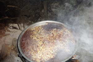 The Water Project: Bumini Primary School -  Local Delicacy Gidheri Made For Students