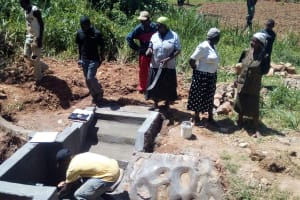 The Water Project: Bumavi Community, Shoso Mwoga Spring -  Artisan Explains The Spring