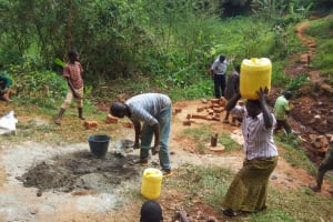 The Water Project: Shitaho Community, Mwikholo Spring -  Construction