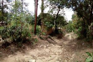 The Water Project: Bukhakunga Community, Indiatsi Omukitsa Spring -  Road Into The Village