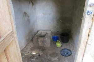 The Water Project: Royema Community A -  Inside Latrine