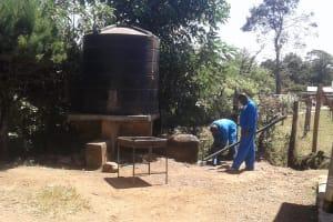The Water Project: Bishop Sulumeti Girls Secondary School -  Broken Tank