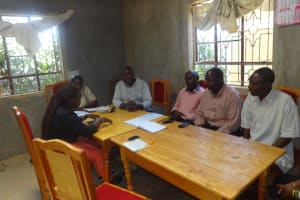 The Water Project: Emukangu Primary School, Butere -  Staff Meeting With Administration
