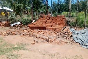 The Water Project: Handidi Community, Malezi Spring -  Brick Making