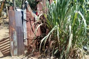 The Water Project: Bukhakunga Community, Indiatsi Omukitsa Spring -  Latrine