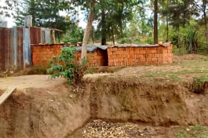 The Water Project: Ebung'ayo Community, Wycliffe Spring -  Baked Bricks