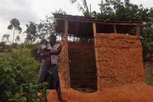The Water Project: Shitungu Community B, Charles Amala Spring -  Latrine