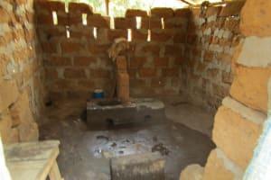 The Water Project: Benke Community, Turay Street -  Inside Latrine