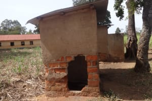 The Water Project: Emulakha Primary School -  Hole In Latrine Wall