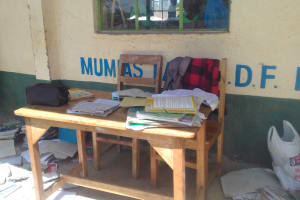 The Water Project: Emusoma Primary School -  Teachers Desk