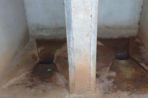 The Water Project: Iyenga Primary School -  Inside Latrine