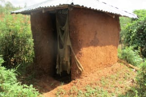 The Water Project: Shikhuyu Community -  Latrine With Cloth Door