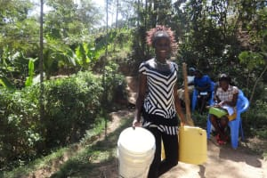 The Water Project: Shitungu Community, Hessein Spring -  Protected Spring