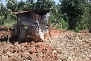 The Water Project: Shikhuyu Community -  Latrine