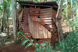 The Water Project: Handidi Community, Kadasia Spring -  Latrine