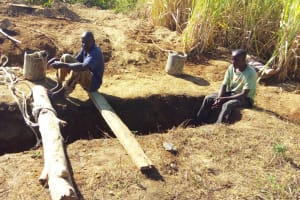 The Water Project: St. Marygoret Girls Secondary School -  Latrine Pit