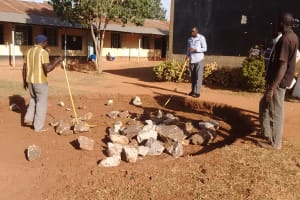 The Water Project: Matende Girls High School -  Measuring Tank Foundation