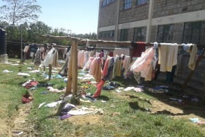 The Water Project: Bishop Sulumeti Girls Secondary School -  Clotheslines