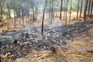 The Water Project: Emukhalari Primary School -  Burnt Garbage