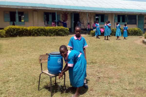 The Water Project: Maganyi Primary School -  Hand Washing Station