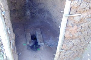 The Water Project: Shiamboko Community, Oluchinji Spring -  Latrine