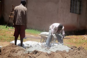 The Water Project: ADC Chanda Primary School -  Cement Work