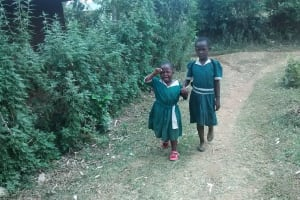 The Water Project: Esibuye Primary School -  Michel Going Home Because Of Stomach Pain