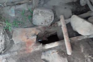 The Water Project: Igogwa Community -  Latrine Floor