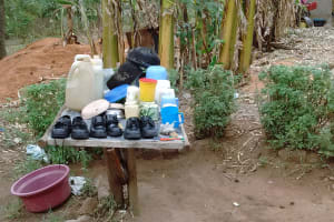 The Water Project: Ebung'ayo Community, Wycliffe Spring -  Dish Rack