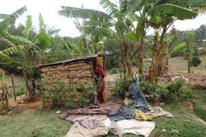 The Water Project: Shitungu Community B, Charles Amala Spring -  Clothes Drying