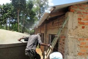 The Water Project: Friends Makuchi Secondary School -  Gutter Installation