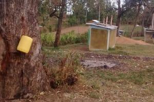 The Water Project: Eshisuru Primary School -  Makeshift Hand Washing Station